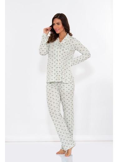 Hays Mom Mina Baskılı Penye 2li Uzun Pijama Takımı